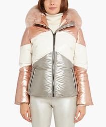 Gaella blush fur collar jacket