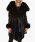 Lottie black sheepskin & fox fur coat Sale - giorgio & mario Sale