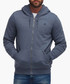 Smokey blue cotton blend zip-up hoodie Sale - dreimaster Sale