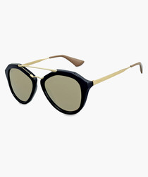 Cinema black & light brown sunglasses