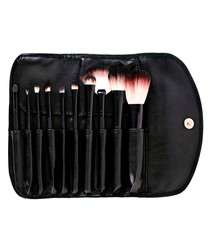 10pc Black professional brush set