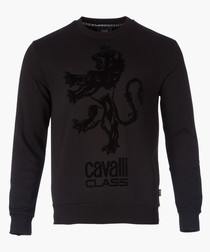 Black lion branded sweater