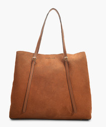 Big Lennox camel leather tote