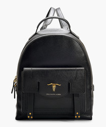 Montana black leather backpack
