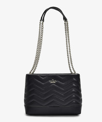 Reese Park Small Lorie Shoulder Bag in Black Quilted Leather