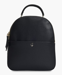 Polly Medium Backpack in Black Leather