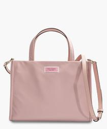 Sam Medium Satchel in Pink Nylon
