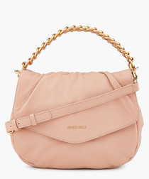 Julie pink leather chain crossbody