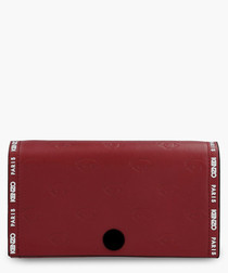 Rosso leather logo crossbody