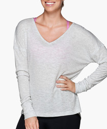 Grey long sleeved lounge top