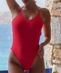 Zoe red swimsuit