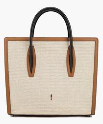 Paloma S beige leather shopper