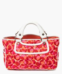 Boogie multi-coloured canvas grab bag