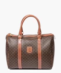 Boston brown monogram grab bag