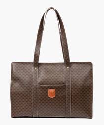 Brown monogram canvas shopper