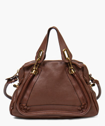 Paraty brown leather grab bag