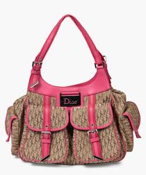 Trotter beige & pink shoulder bag