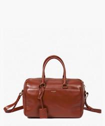 6 Boston pink leather grab bag