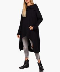 Black pure cotton high low dress