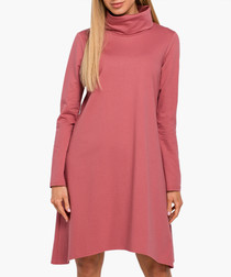 Indian rose pure cotton swing dress