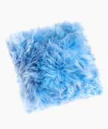 new zealand sheepskin cushion heavenly blue