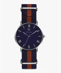 Hamilton blue & red nato strap watch