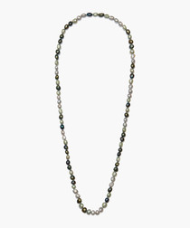 Grey & Green Pearl Necklace