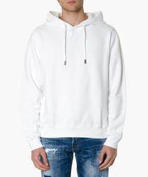 White cotton icon hoodie
